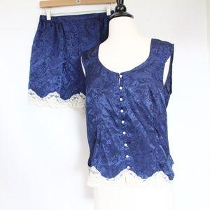 Victoria's Secret Vintage Pajama Set Medium